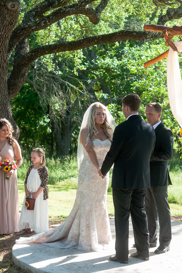 Wedding Ceremony at Rock House Hideaway in Fredericksburg, Texas by San Antonio Wedding Photographer Parker Radbourne