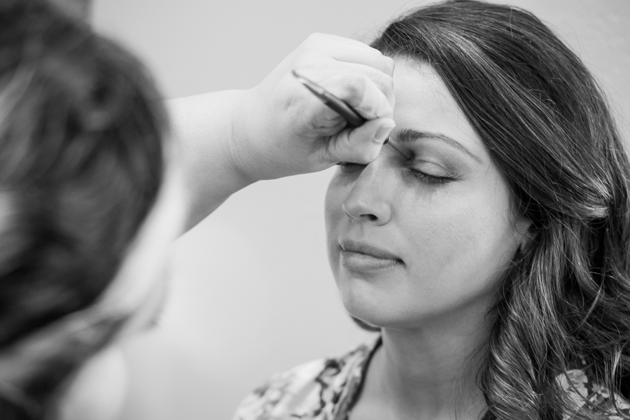Bride Getting Makeup Done | San Antonio Wedding Photographer