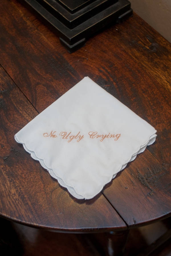 """No Ugly Crying"" Handkerchief 