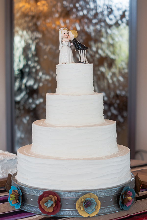 Wedding Cake at Rock House Hideaway in Fredericksburg, Texas by San Antonio Wedding Photographer Parker Radbourne