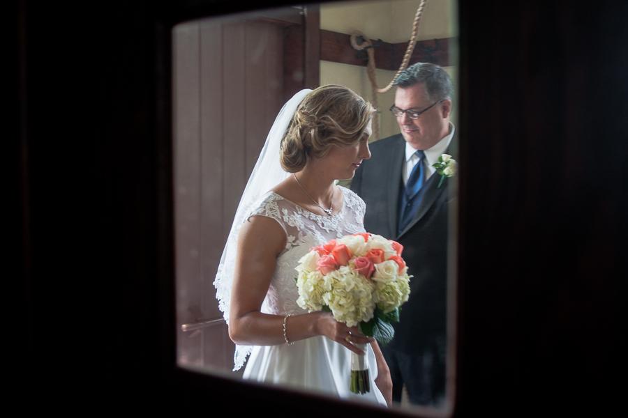 Bride Arriving at Chapel | San Antonio Wedding Photographer