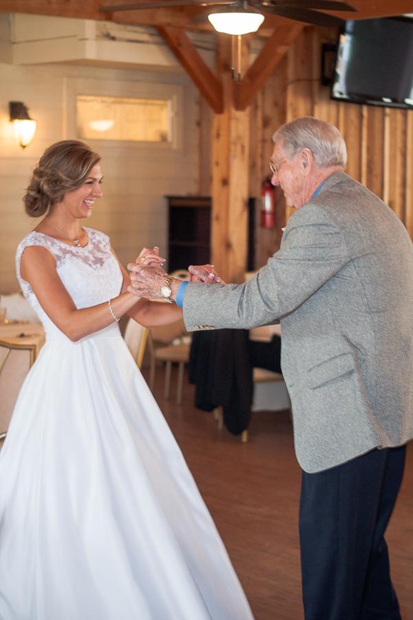 Bride Dancing with Grandfather | San Antonio Wedding Photographer