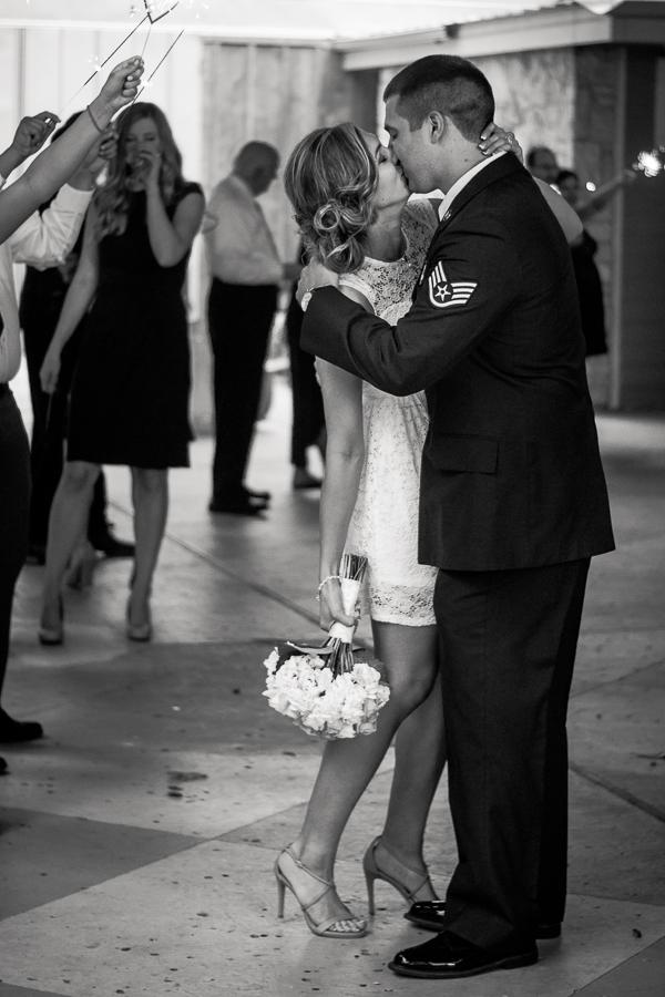 Bride and Groom Leaving Venue | San Antonio Wedding Photographer