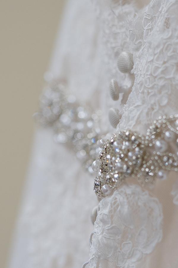 Detail of Bride's Dress | San Antonio Wedding Photography