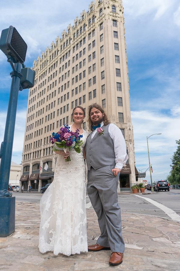 Bride and Groom Emily Morgan Hotel Downtown San Antonio | San Antonio Wedding Photography