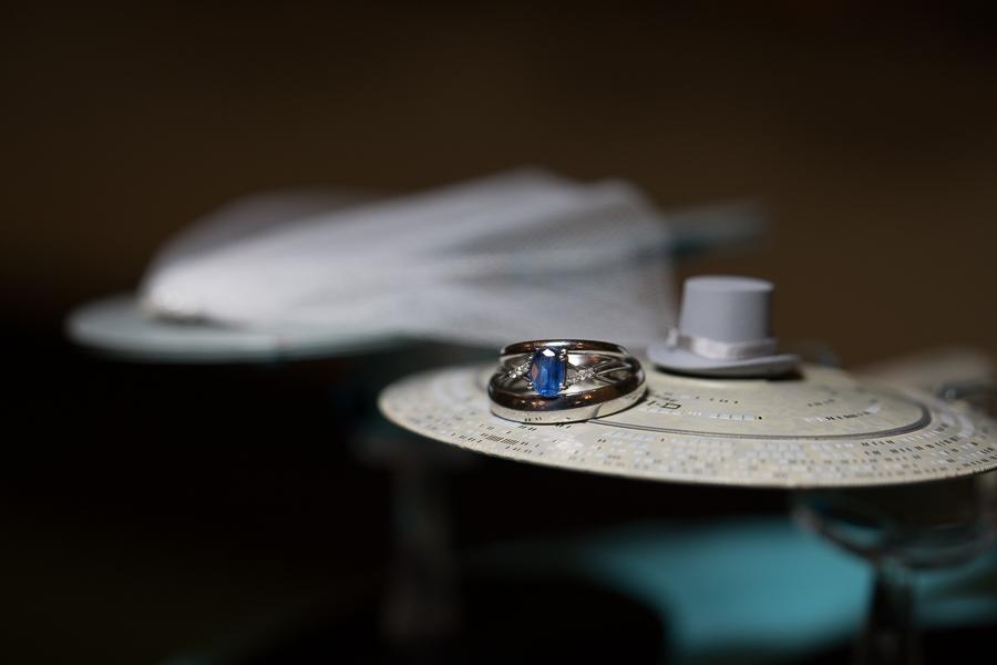 Wedding Rings and Cake Topper | San Antonio Wedding Photography