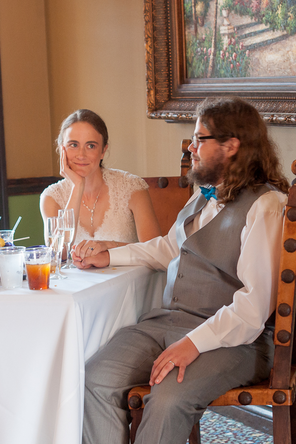Toasts During Wedding Reception at Rita's on the River | San Antonio Wedding Photography