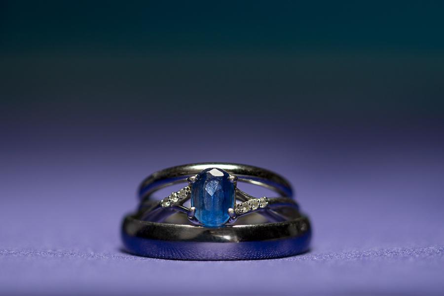 Wedding Rings on Purple | San Antonio Wedding Photographer