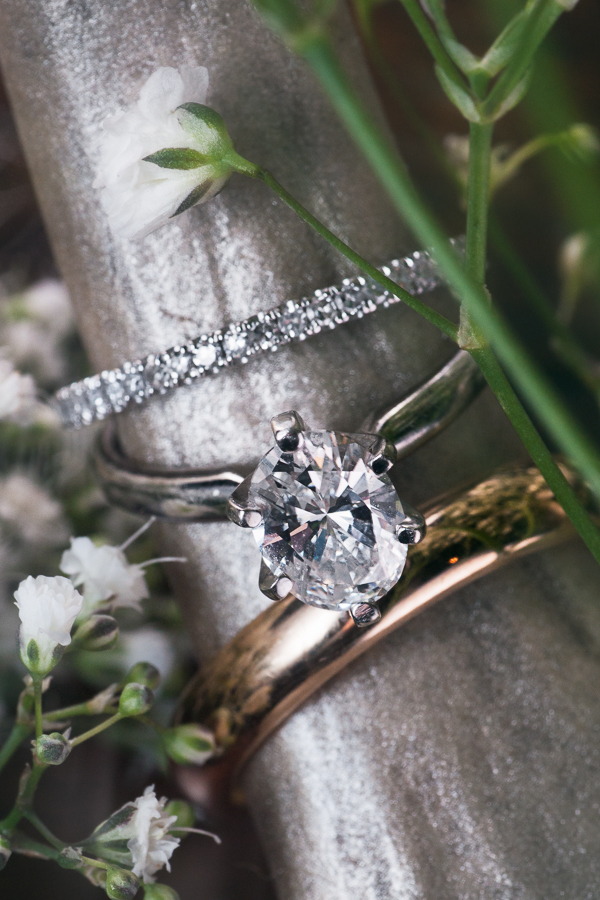 Gold and Silver Wedding Ring Set | San Antonio Wedding Photographer