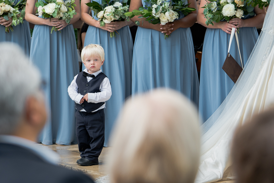 Ring Bearer During Wedding Ceremony | San Antonio Wedding Photographer