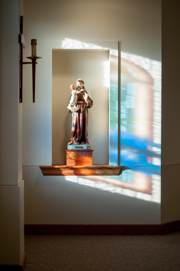 Light through Stained Glass  | San Antonio Wedding Photographer