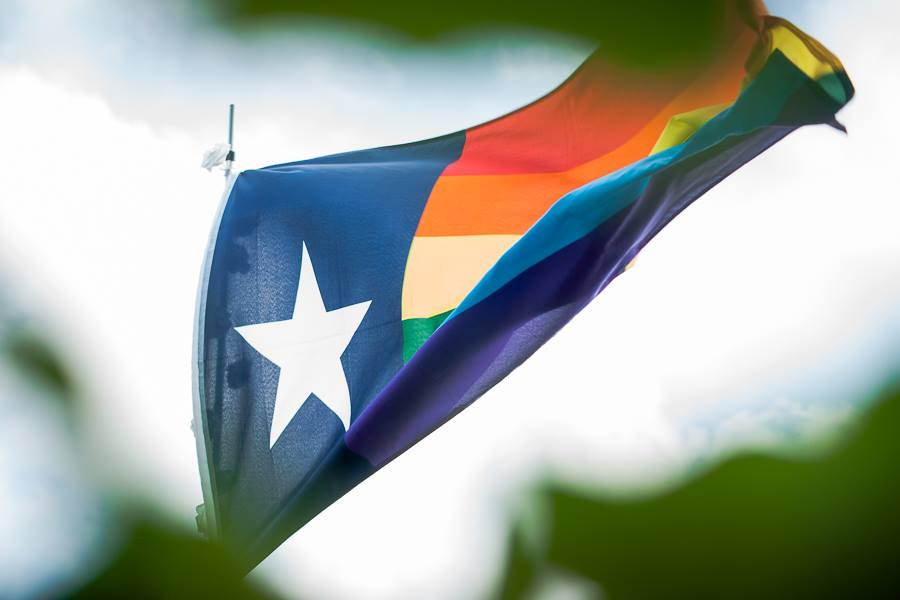 Texas LGBTQ Flag Flying High in San Antonio