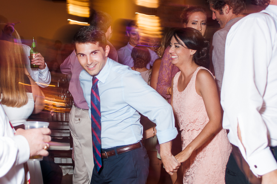Guests Dancing at a Wedding Reception | San Antonio Wedding Photographer