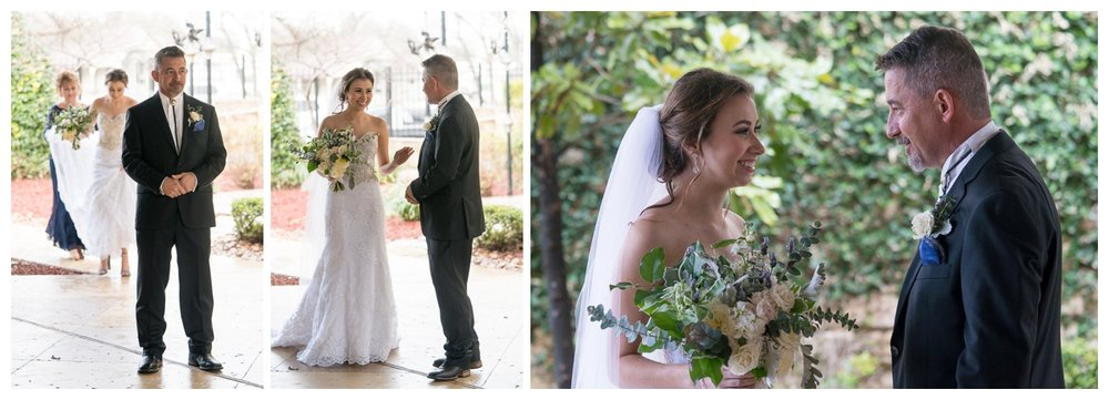 First Look with Father | San Antonio Wedding Photographer
