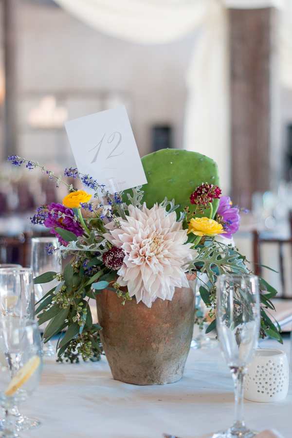 San Antonio Wedding Photographer | Texas Cactus Centerpiece