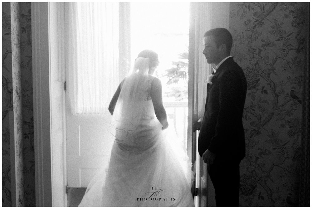 We were heading outside to the balcony at Menger Hotel for a few photos and I loved the way Adam was holding the door open for Allison. Neither of them are aware I'm taking a photo here, just a small snapshot of them on their wedding day.