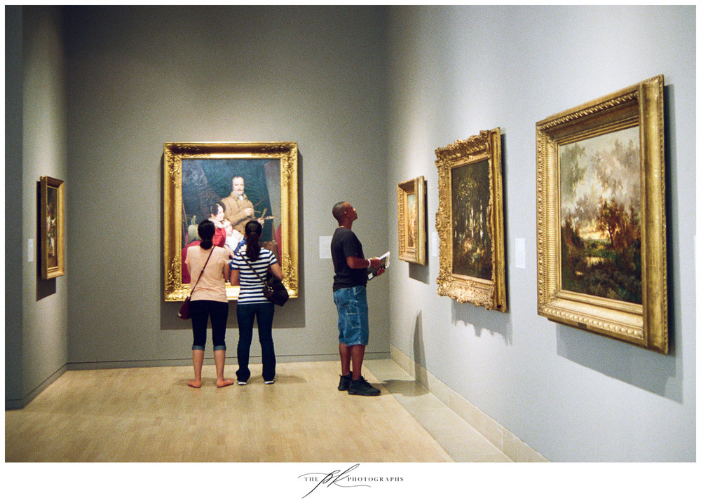 Visitors at the Dallas Museum of Art