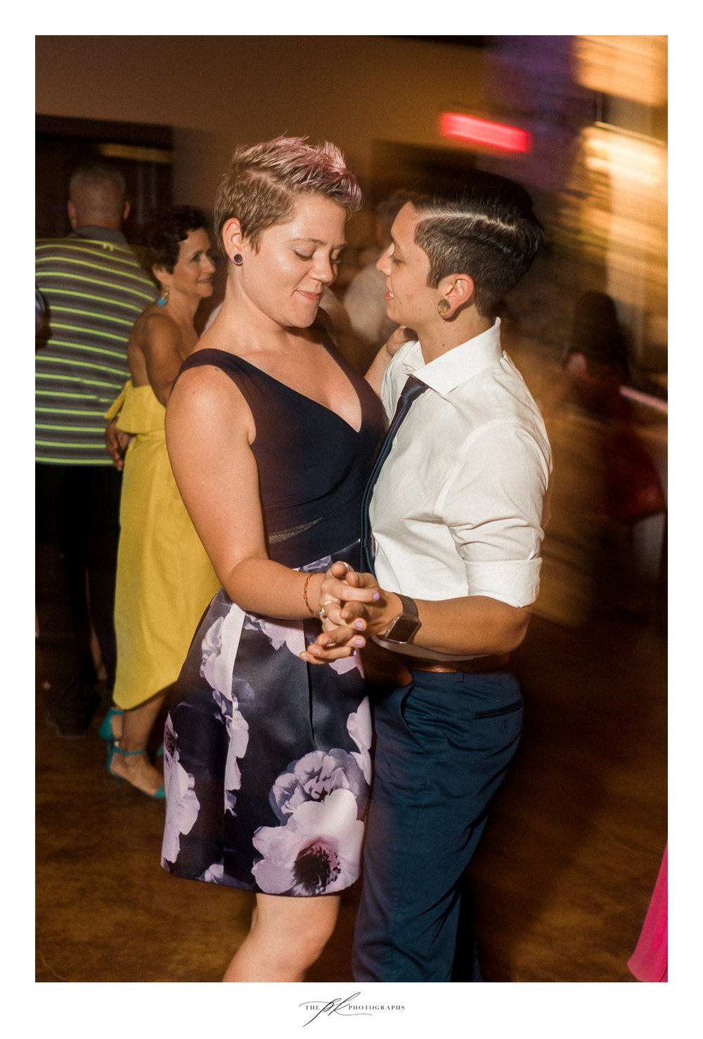 Seeing this super cute LGBTQ+ couple on the dance floor totally melted my heart, usually I don't get to interact with my fellow LGBTQ+ family at weddings!  The Lodge At Country Inn Cottages | San Antonio Wedding Photographer