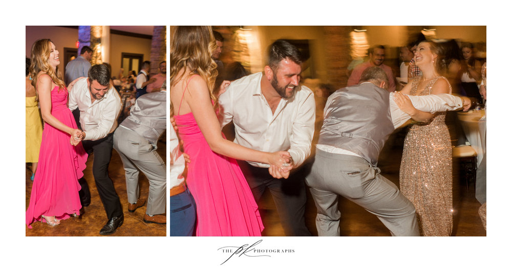 I spent most of the evening laughing so hard as the groomsmen really make sure all the guests were having a fun evening! The Lodge At Country Inn Cottages | San Antonio Wedding Photographer