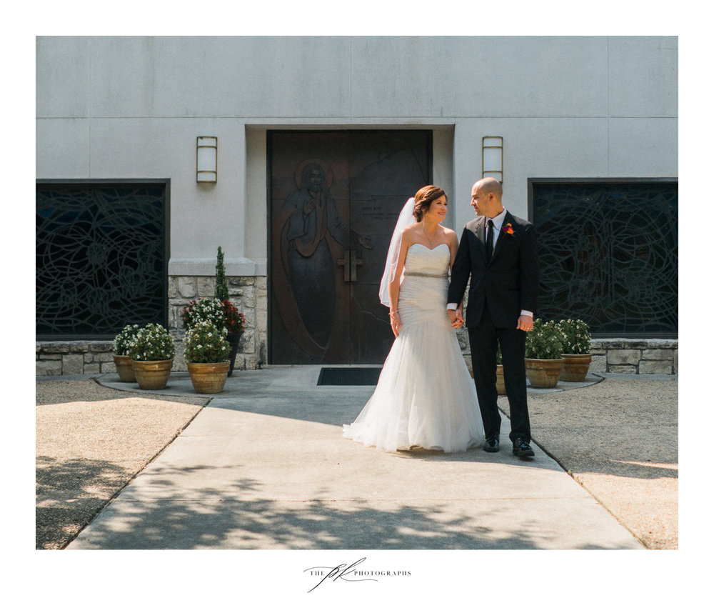 Katie and Matt after their ceremony at Shepherd of the Hills Lutheran Church in San Antonio.