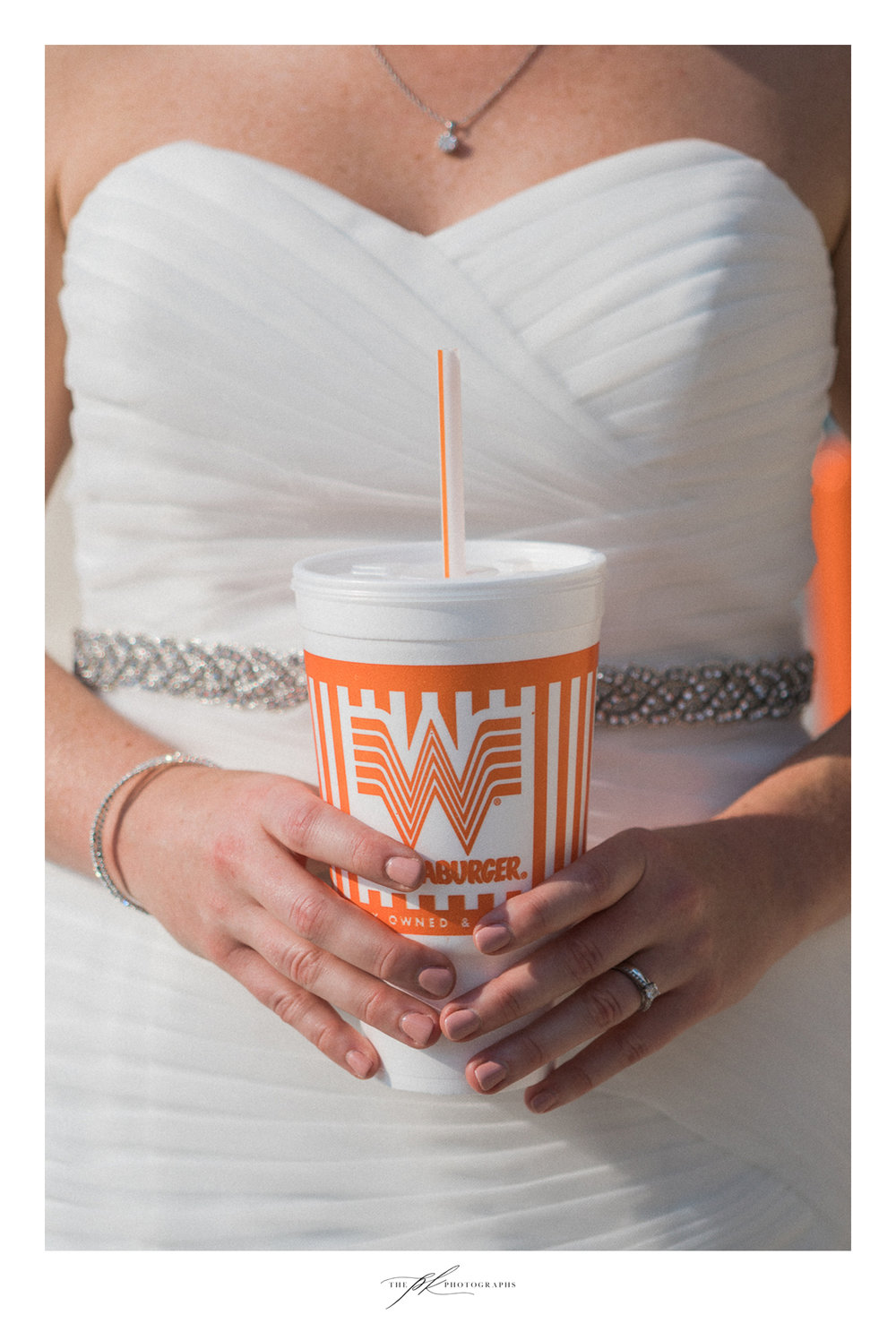 Whatabride - Katie decided to stop at Whataburger on the way to their wedding reception.