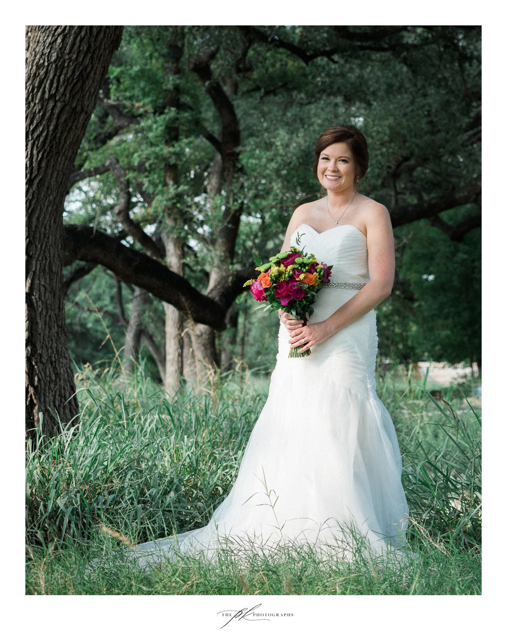 Katie at Magnolia Halle, a San Antonio wedding venue in the heart of the city.