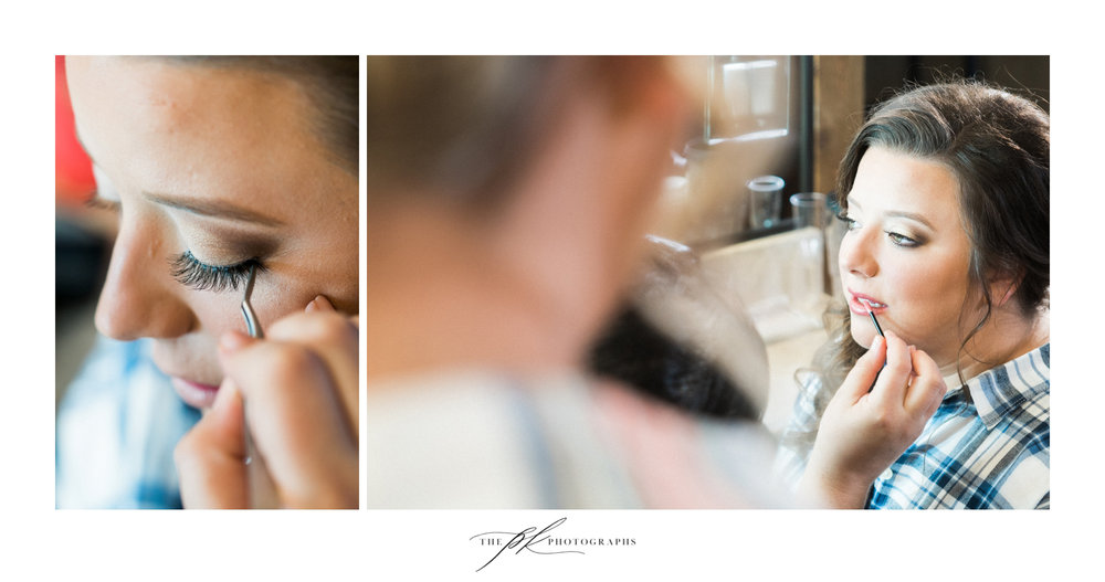Emily having the final touches on her makeup finished by My Makeup Movement.