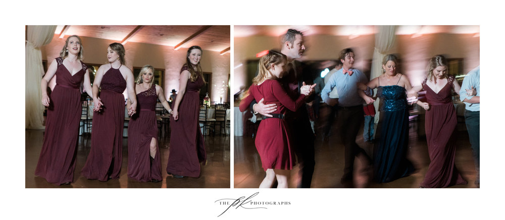 Family and friends kept the celebration going as they danced with their loved ones on the dance floor.
