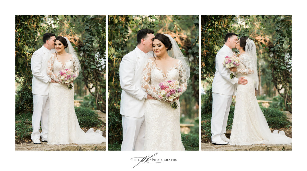 Photographs of the Bride and Groom at Los Patios during their San Antonio wedding.