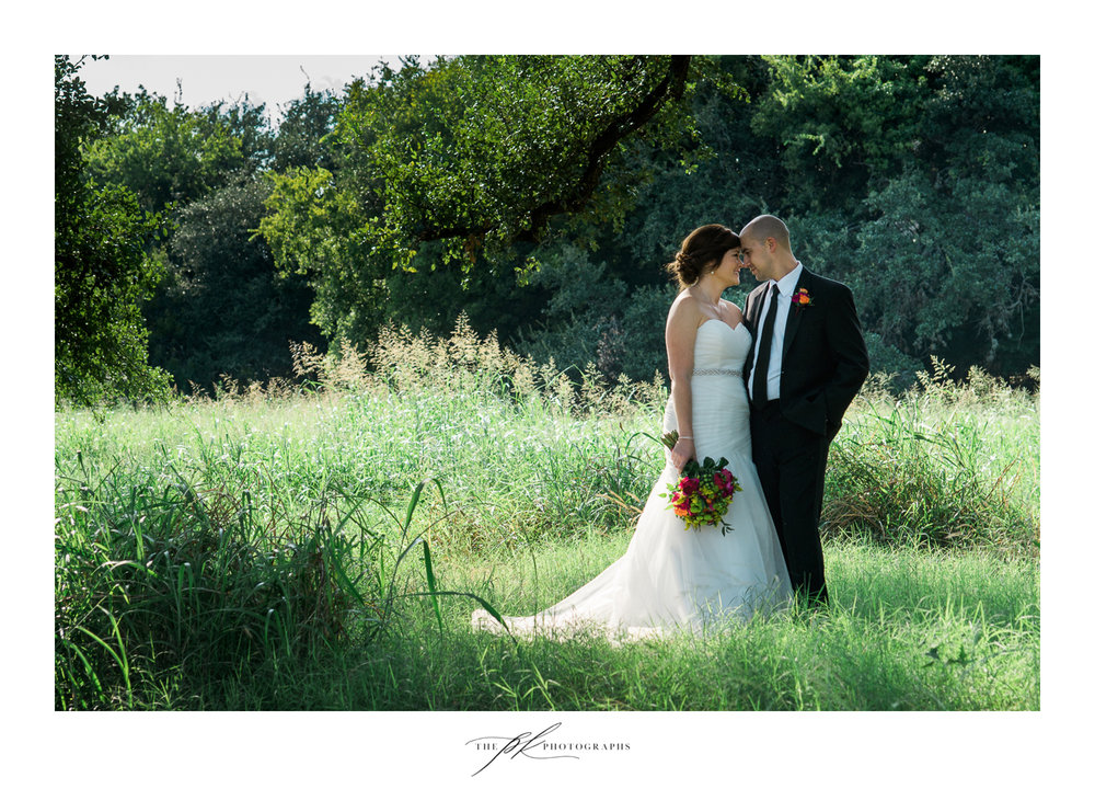 Portrait of a Bride and Groom at their Magnoila Halle wedding in San Antonio.