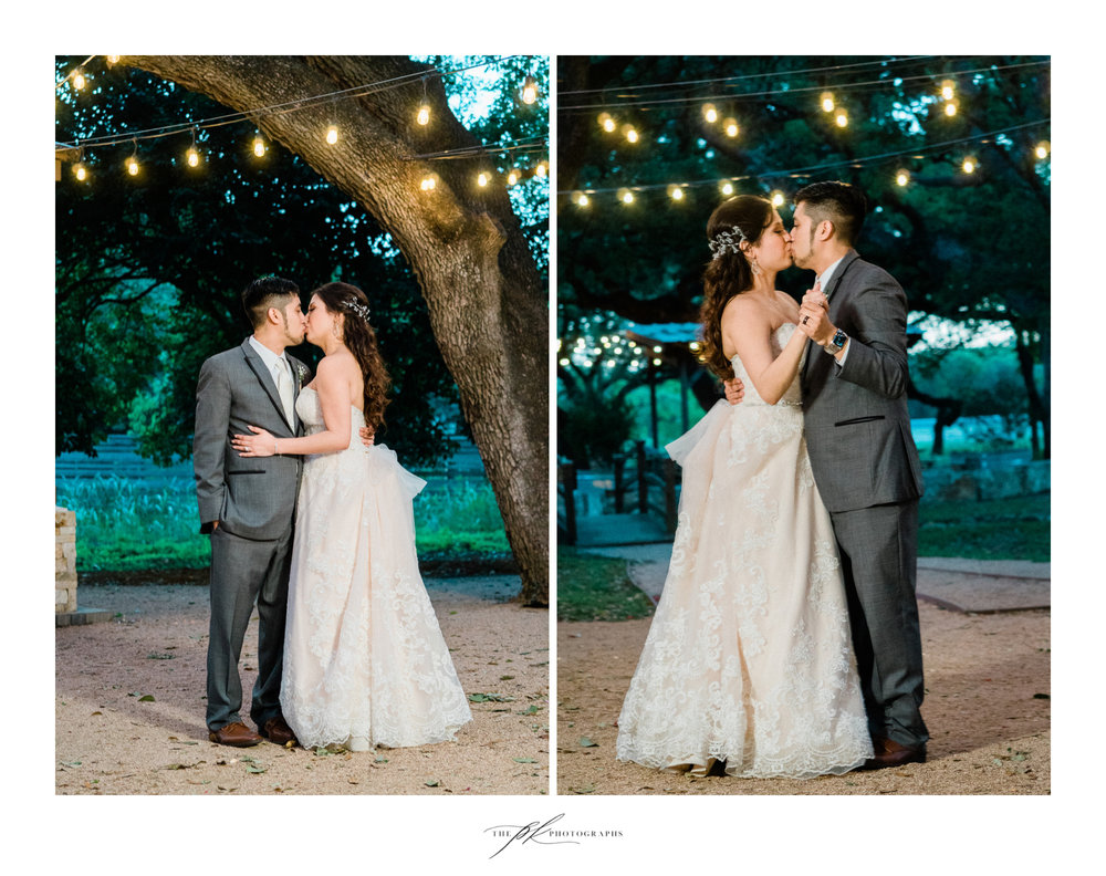 Bride and Groom during their wedding at Magnolia Halle in San Antonio, Texas - Photographed by The PK Photographs