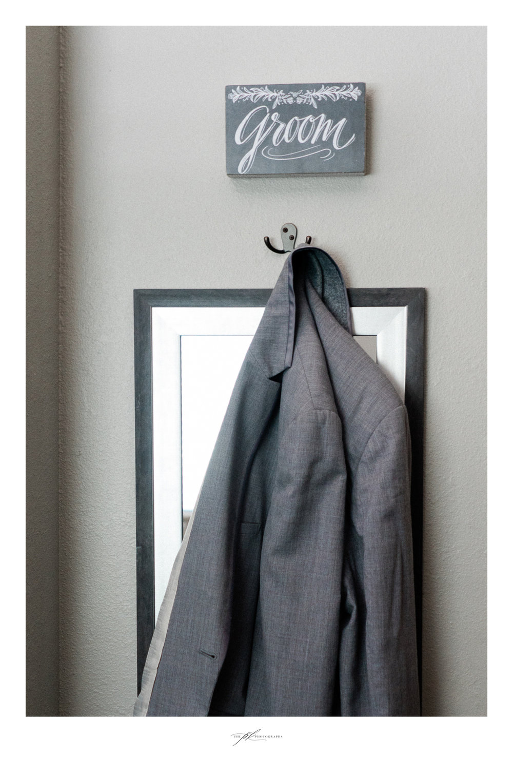 Groom's suit jacket at Magnolia Halle in San Antonio, Texas - Photographed by The PK Photographs