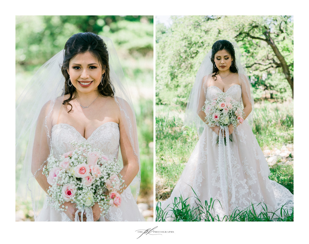 Bridal portriats at Magnolia Halle in San Antonio, Texas - Photographed by The PK Photographs