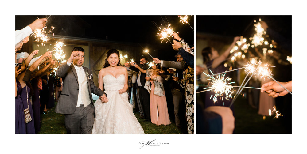 Sparkler Wedding Exit at Magnolia Halle in San Antonio, Texas - Photographed by The PK Photographs