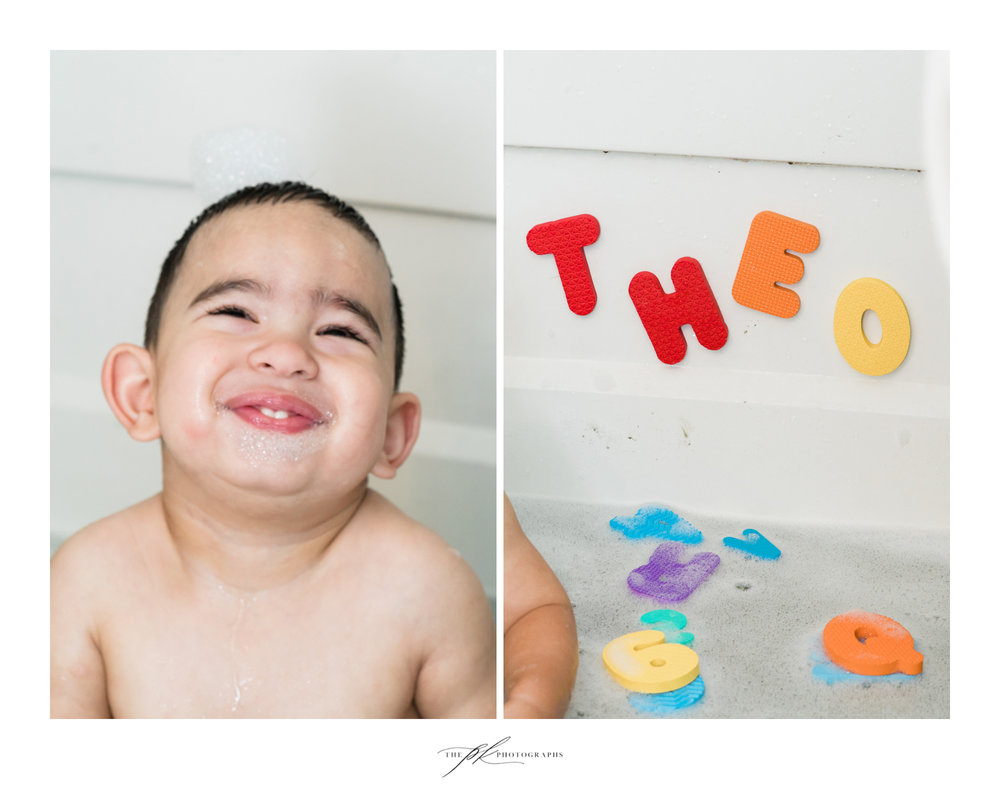 Kid's Bubble Bath Portrait Session