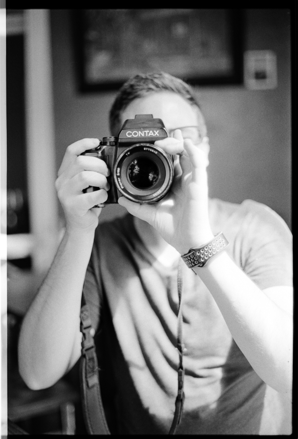 Photo-off with May - my side of things.  Captured by May, developed and scanned by Parker on Ilford HP5+ | 35mm