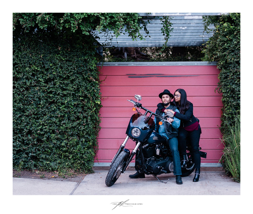 Erika and Moe's custom Harley-Davidson portrait session in San Antonio