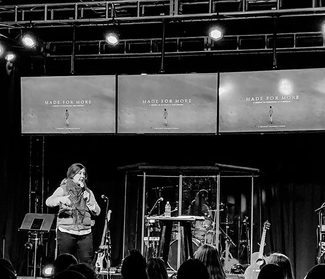 """What if we made a point to SEE others and step into people's worlds, not just see from a distance? Maybe then we could really be able to see that THERE IS MORE..we were made for more."" @faithbbrodie — Such a great night at #RESET & #ELEVATE as we ended our #madeformore series 💯🙌🏼"