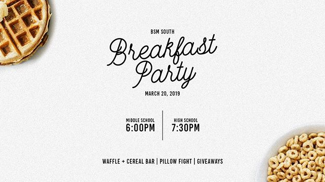 Waffles•Cereal•Donuts•OJ•AJ—all the best ingredients & more for the BEST BREAKFAST party!! Cant wait for tomorrow night—  Who can you share your love of the most important meal of the day with??🙌🏽🥞🍳🥓☕️