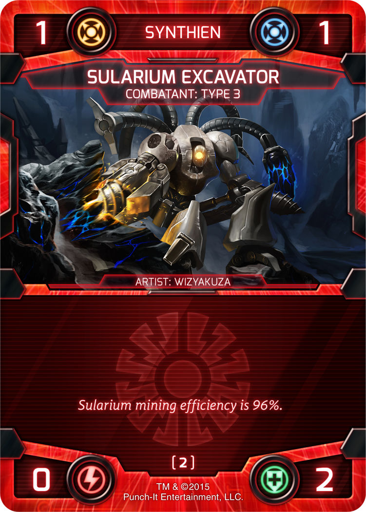 Many Synthien combatants excel at generating sularium, with only a relative few generating no sularium at all..