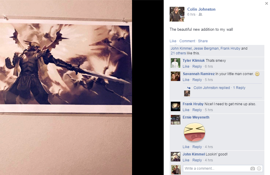 Collin J. was a VIP Kickstarter backer and got a very sweet exclusive Lord Oathki art print.