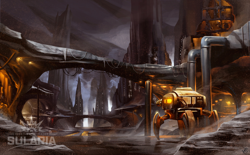 Sularium Mining Station  | Art by Wizyakuza