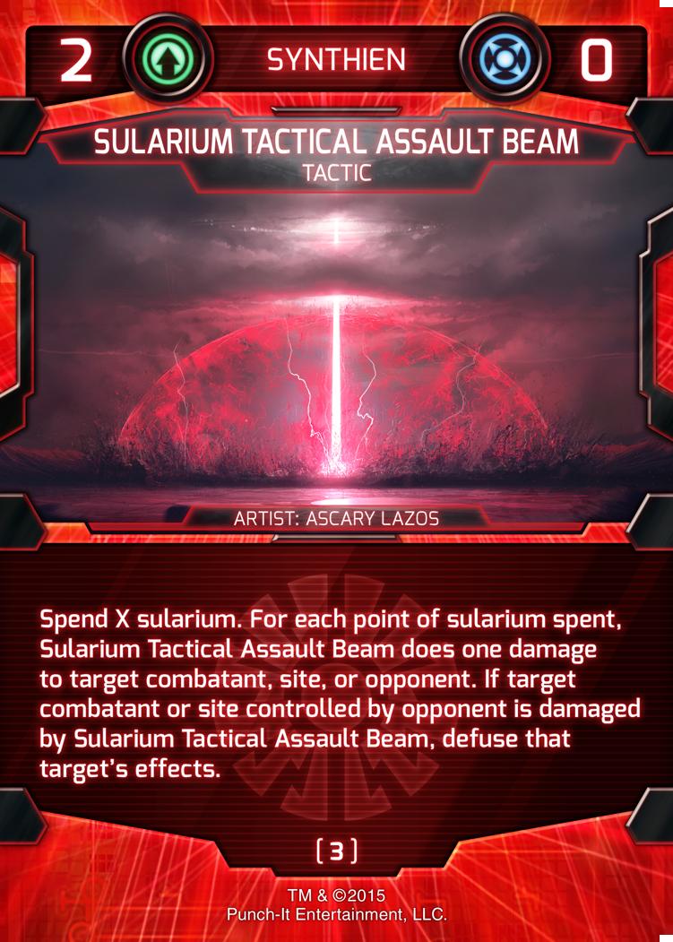 Sularium Tactical Assault Beam from The Battle Begins Starter Set