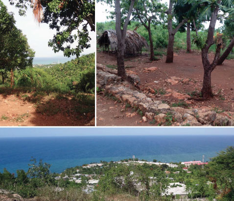 Views of and from the recently acquired property in Jeremie, Haiti