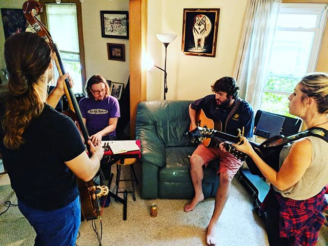 Rehearsing for Sunday with the one and only @davemehling! We'll see you SUNDAY at @turfclubmn at 7pm. Don't forget to catch Dave early with the fantastic @gaelynnlea! #music #folk #fiddle #guitar #bass #stickbass #organ #nord #davemehling #americana #live #show #sunday