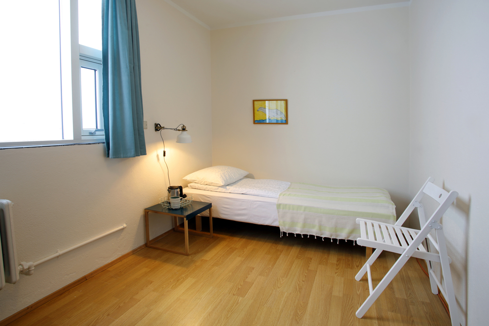 Single room. Our smaller rooms are for either single or double occupancy.