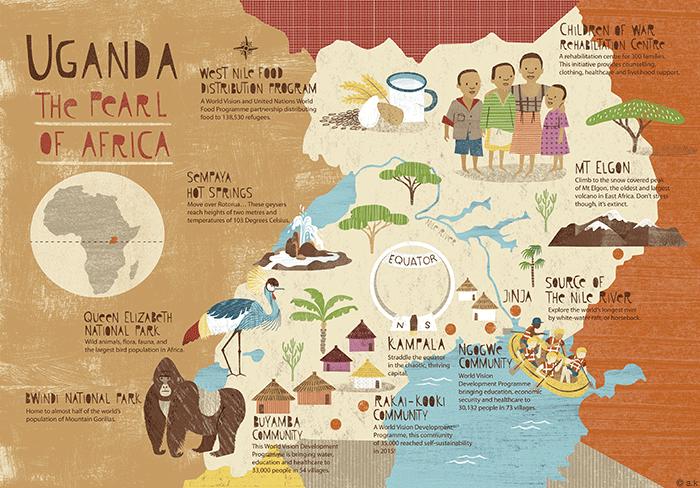 Uganda Map — The Picture Garden