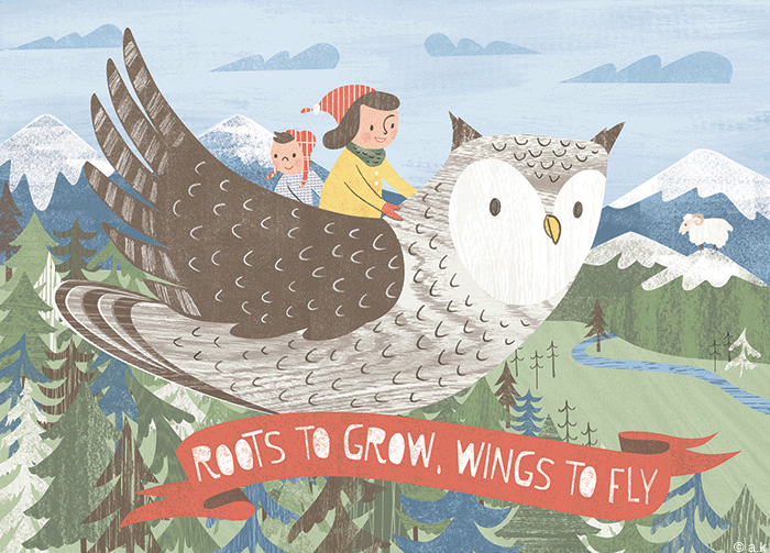 Roots&Wings Promotional Postcard
