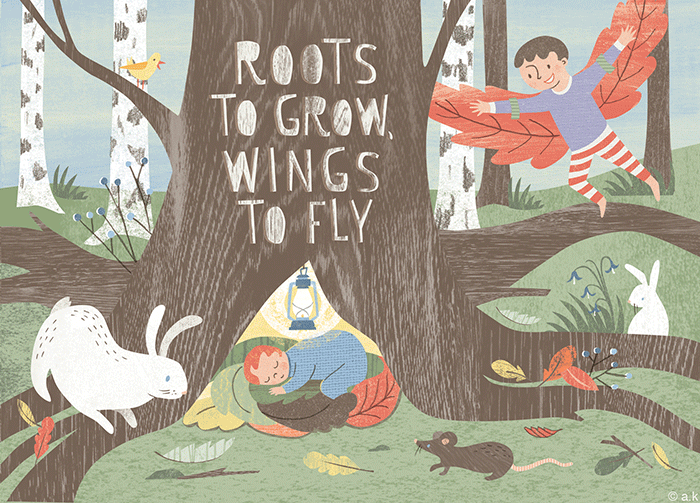 Roots & Wings Promotional Postcard