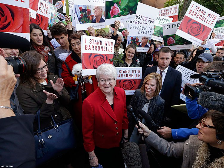 Barronelle Stutzman says state court rulings that she violated antidiscrimination law fail to recognize her freedom of speech and religion.